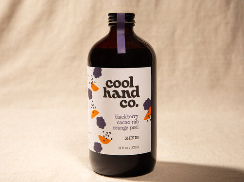 Blackberry Cacao Nib Orange Peel Shrub 8.5 fluid oz