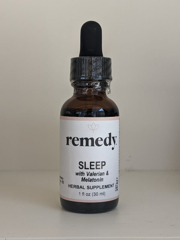 Sleep with Valerian and Melatonin Liquid Extract, 1oz