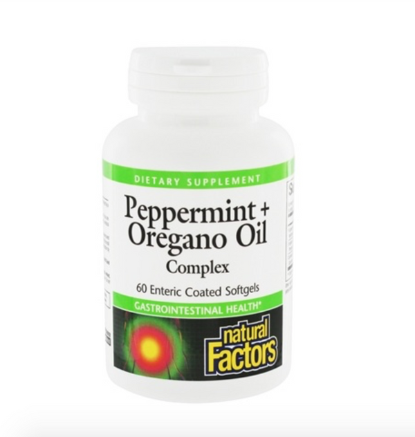 Peppermint + Oregano Oil Complex Softgels, 60 ct