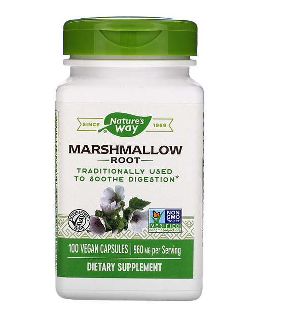 Marshmallow Root Capsules, 100 ct