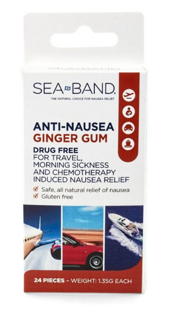 Sea-Band Anti-Nausea Ginger Gum, 24ct