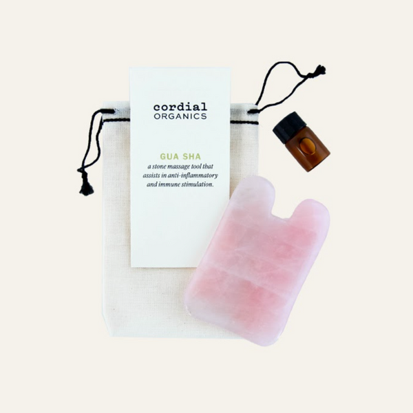 Gua Sha Gift Set, Rose Quartz