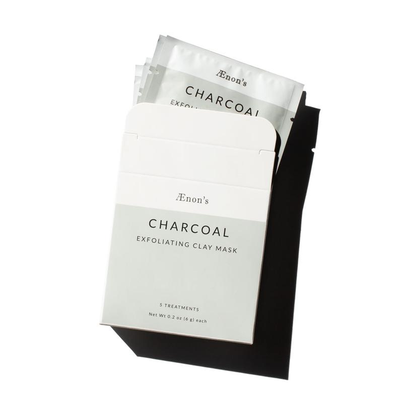 Charcoal Exfoliating Clay Mask, 5 ct