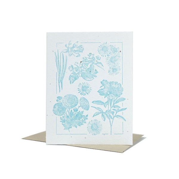Blue Plantable Greeting Card, 1ct