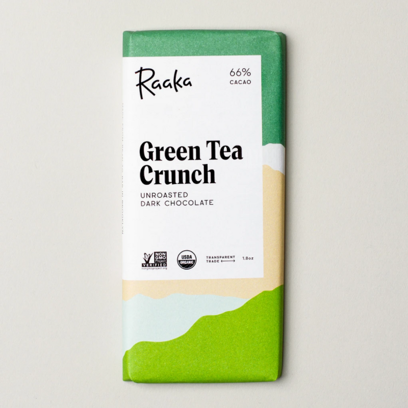 Raaka Green Tea Crunch, 1ct