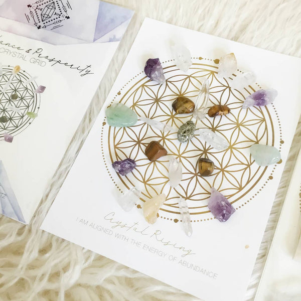 Abundance + Prosperity Crystal Grid Kit