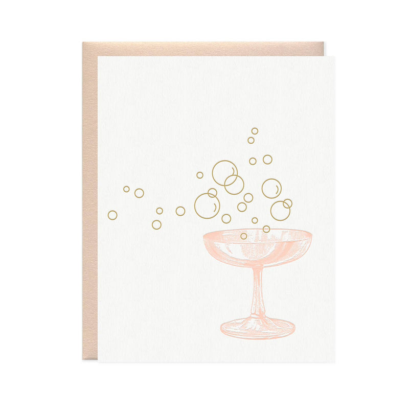 Card, Champagne Glass