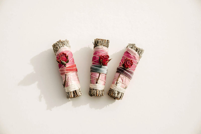 Smoke Bundle, Blue Sage + Roses 1ct