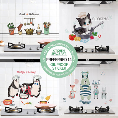 30/60*90cm Kitchen oil-proof wall stickers
