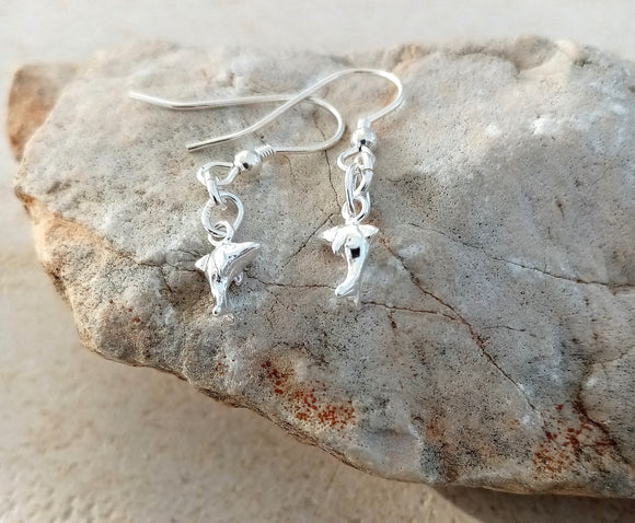 Dolphin Sterling Silver Earrings