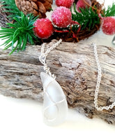 White Horn Pendant on Sterling Silver Chain