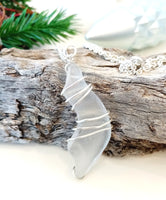 White Twist Pendant on Sterling Silver Chain