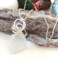 White Twists & Tales Pendant on Sterling Silver Chain