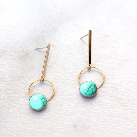 THE BAR HOOP AND CAB TURQUOISE