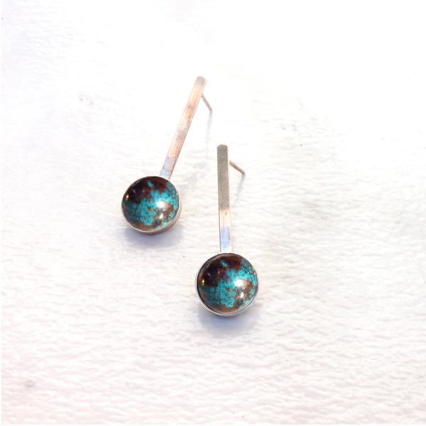 BAR AND CABOCHON CHRYSOCOLLA