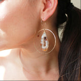 THE GEODE IN HOOP EARRING