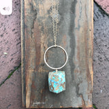 Hoop and Stone Necklace