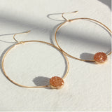 HOOP AND CAB EARRINGS PEACH DRUZY