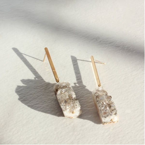 THE BAR AND DRUZY EARRING