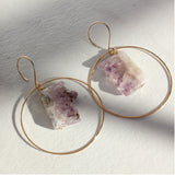 THE AMETHYST IN HOOP EARRING