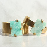 THE GEM AND BRASS CUFF AMAZONITE