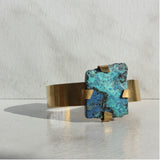 THE GEM AND BRASS CUFF CHRYSOCOLLA