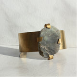 THE GEM AND BRASS CUFF LABRADORITE