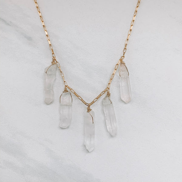 CRYSTAL POINTS NECKLACE