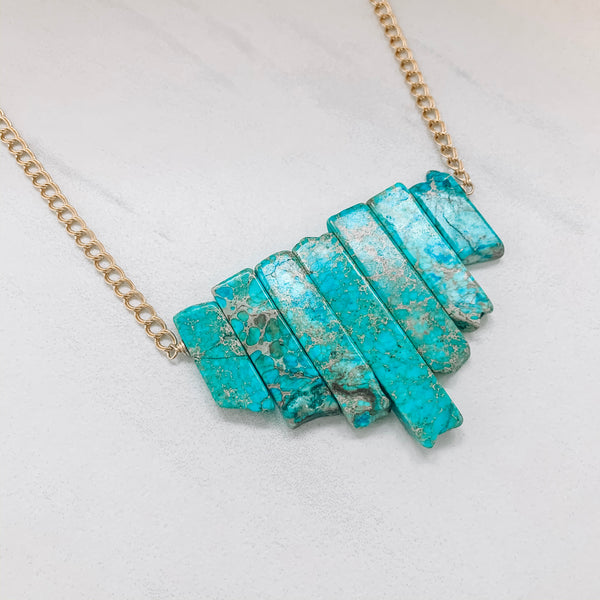 TURQUOISE JASPER STATEMENT NECKLACE
