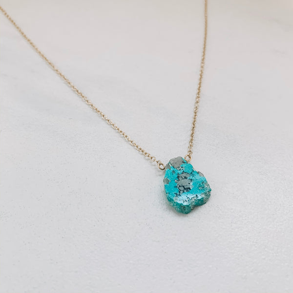 SLAB NECKLACE: TURQUOISE