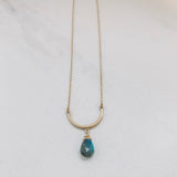U-TUBE NECKLACE: LABRADORITE