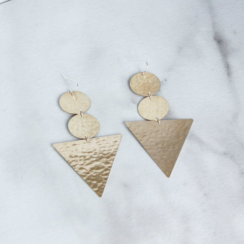 Double Disc and Triangle-M.Liz Jewelry