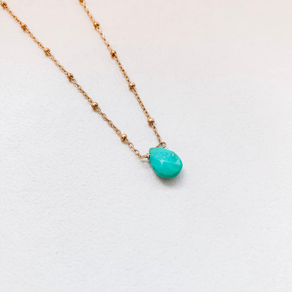 TEARDROP NECKLACE: TURQUOISE
