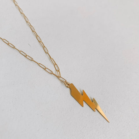 Elongated Bolt Necklace