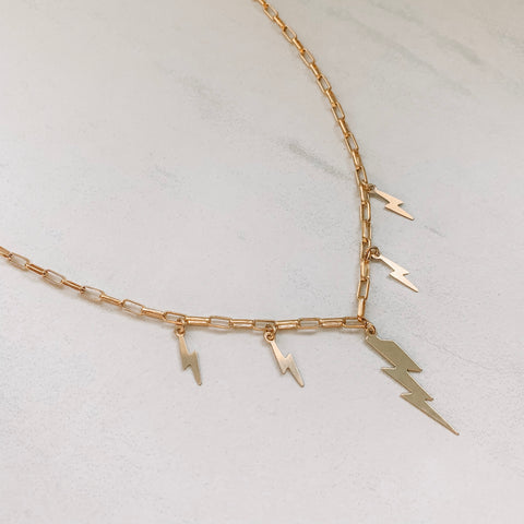 Multi Lighting Bolt Necklace