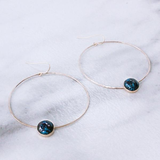 Hoop and Cab Earrings