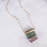 Amethyst Suspension Necklace
