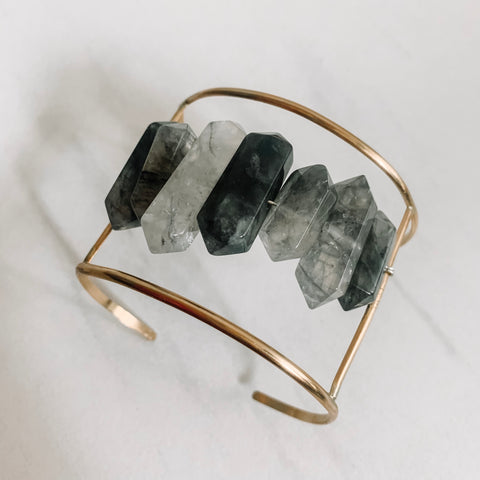 Smokey Quartz Statement Cuff