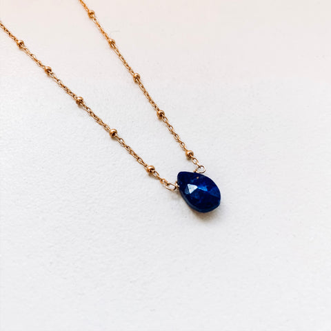 TEARDROP NECKLACE: LAPIS
