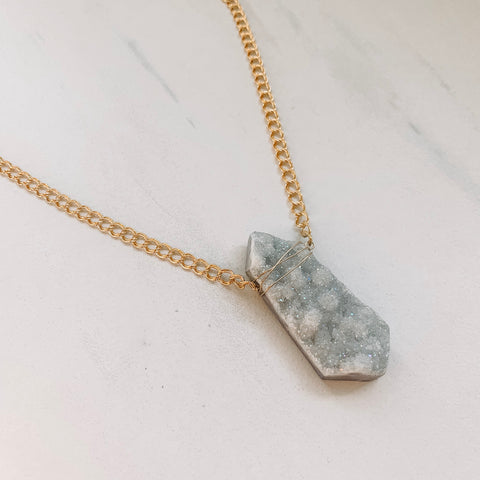 Fancy Druzy Necklace