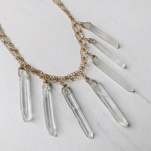 Clear Quartz Multi Necklace