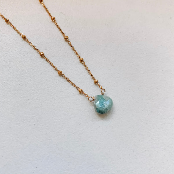 TEARDROP NECKLACE: BLUE AUSTRALIAN OPAL