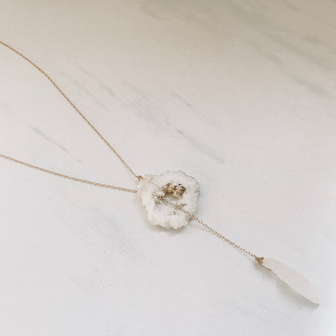 Stalactite Geode Lariat Necklace