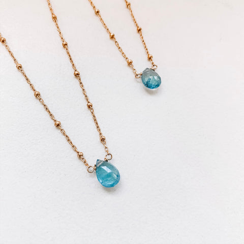 Aquamarine Mama and Mini Set
