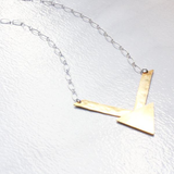 The Brass Lightening Necklace
