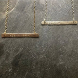 Personalized Name / Date / Saying Necklace