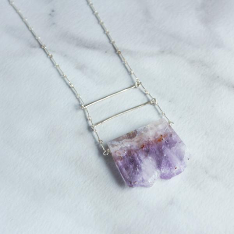 Amethyst Ladder Necklace