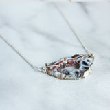 Short Wire Wrapped Geode Necklace-M.Liz Jewelry