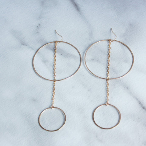 The Audrey Hammered Hoop Earrings-M.Liz Jewelry
