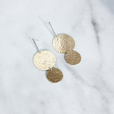 The Bar and Double Disc Earrings-M.Liz Jewelry